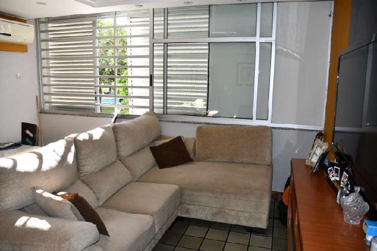 Apartamento excelente 101 m2, sqs 205, 3 q suite closet dce