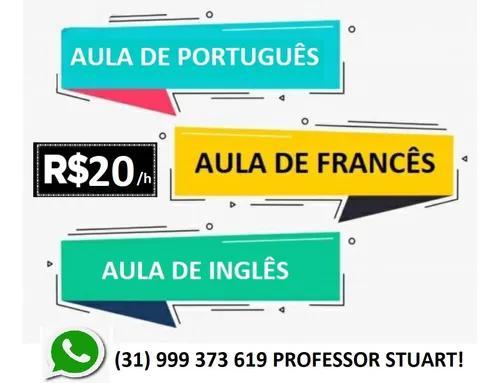 Aulas particulares de inglês ou francês online