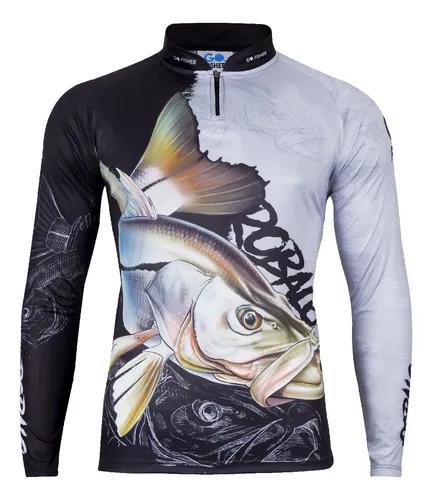 Camiseta de pesca go fisher action uv robalo - go 10