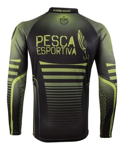 Camiseta de pesca king brasil proteção solar uv 50+ -