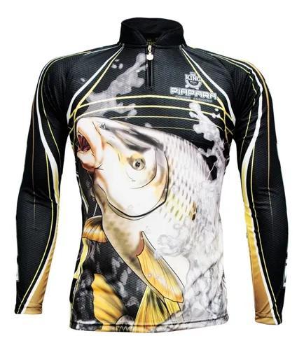 Camiseta de pesca king proteção solar uv kff305 piapara