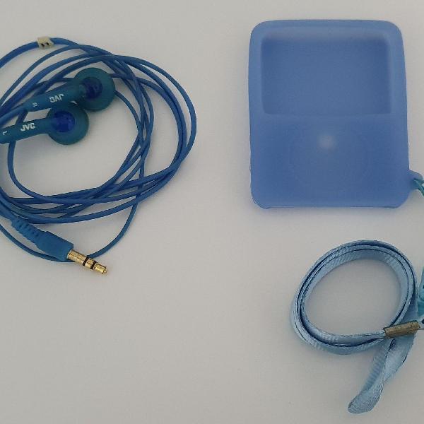 Case silicone para ipod e fone de ouvido jvc