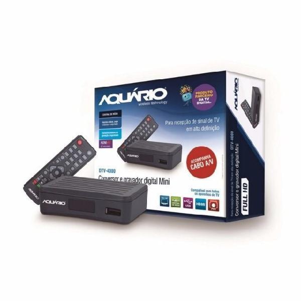 Conversor gravador digital tv dtv-4000s novo / nfe