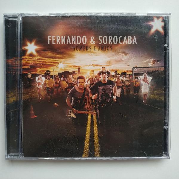 Fernando & sorocaba cd original - homens e anjos