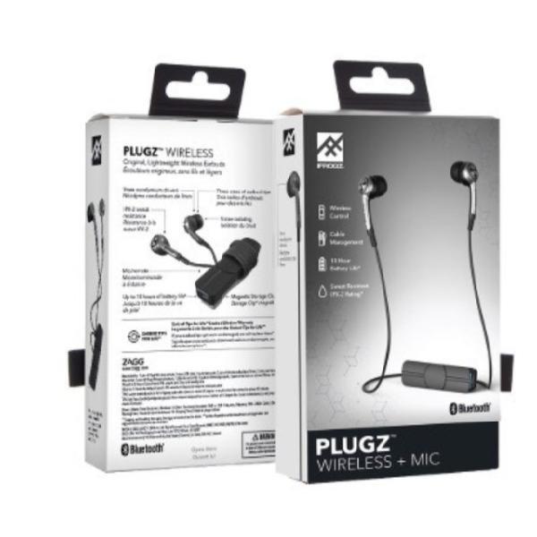 Fone de ouvido bluetooth wireless plugz ifrogz 10hs bateria