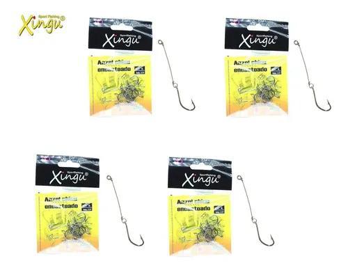 Kit 4 cart anzol encastoado xingu chinu n° 6 ao 9 - 40