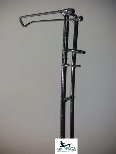 Kit 4 suporte barranco vara telescópica molinete 3
