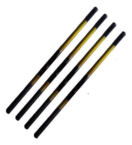Kit 4 vara de pesca f. vidro 3,6 4,5 6,3 7,2 mts 10 lbs