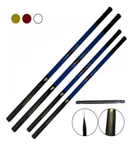 Kit 4 varas de mão telescópica 3,50m e 4,50m 8 lbs