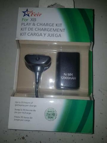 Kit bateria + cabo carregador xbox 360