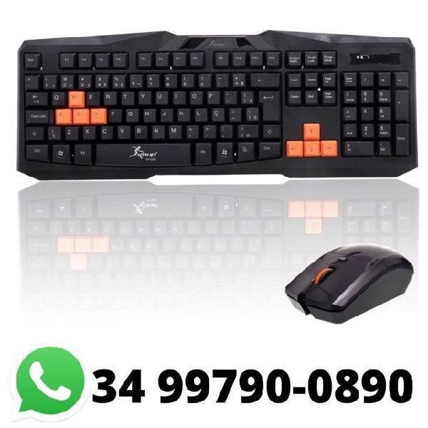 Kit teclado com mouse sem fio knup