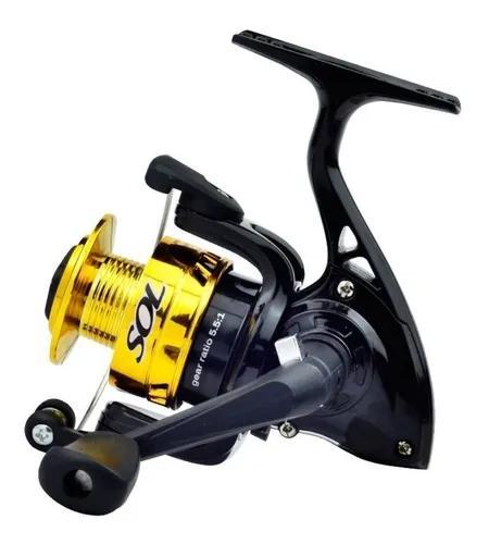 Molinete micro pesca marine sports sol 100 já com linha