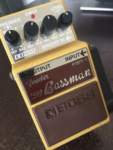 Pedal boss fender 59 bassman. um clássico!
