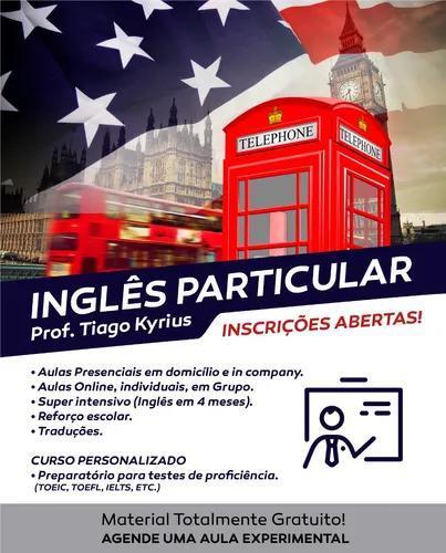 Professor particular - 4 aulas de inglês online