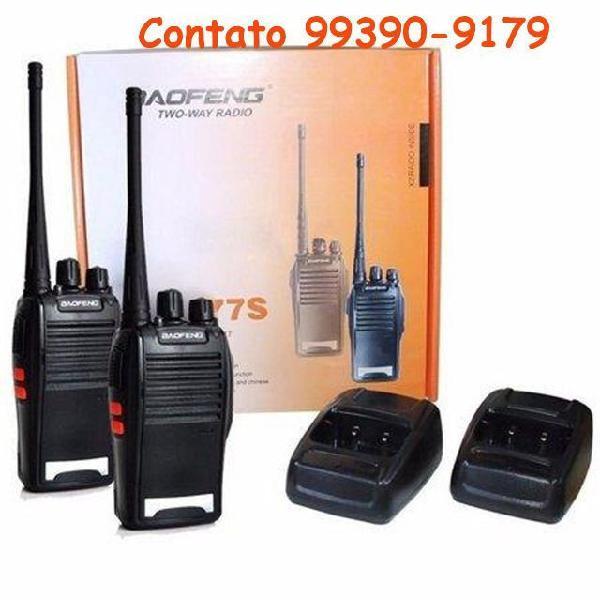 Rádios baofeng de comunicação uhf/vhf 16 canais rádio