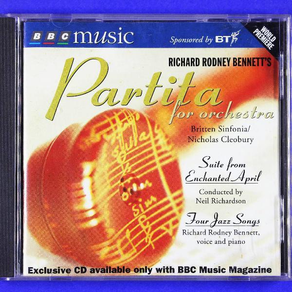 Cd . richard rodney bennett's partita for orchestra