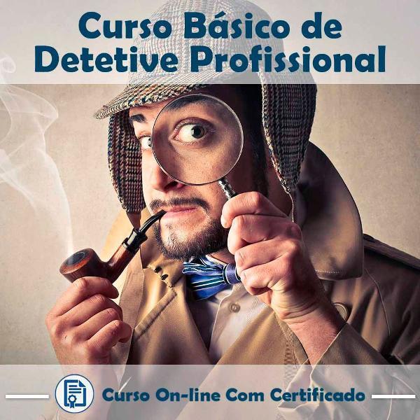 Curso online básico de detetive profissional com