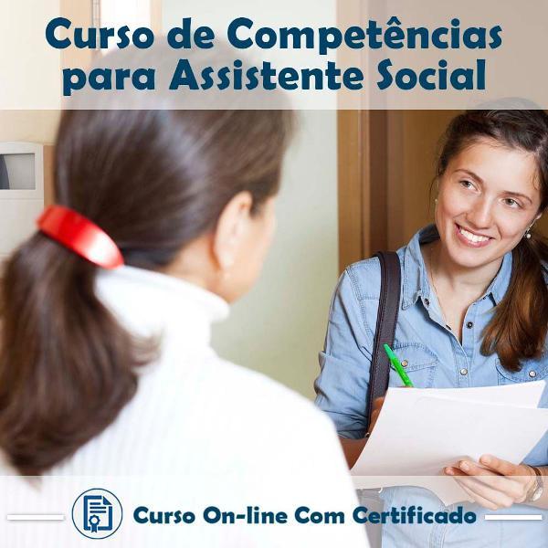 Curso online de competências para assistente social com