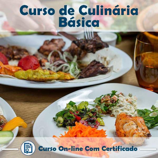 Curso online de culinária básica com certificado