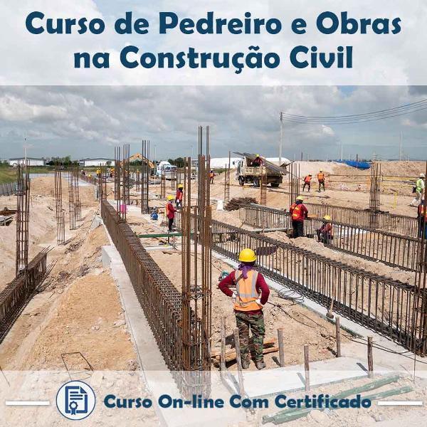 Curso online de pedreiro e obras de construção civil com