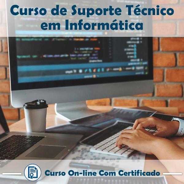 Curso online de suporte técnico em informática com