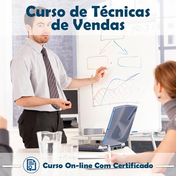 Curso online de técnicas de vendas com certificado