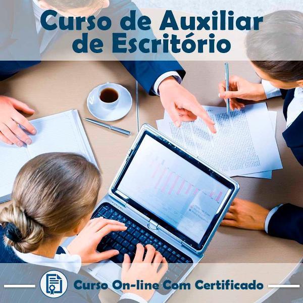 Curso online em videoaula de auxiliar de escritório na