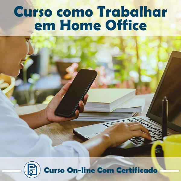 Curso online em videoaula de como trabalhar em home office