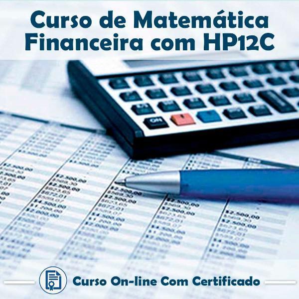 Curso online em videoaula de matemática financeira com hp