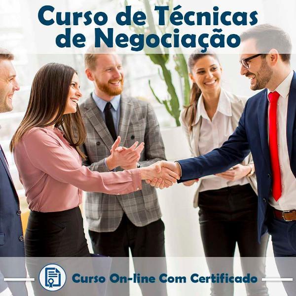 Curso online em videoaula de técnicas de negociação com