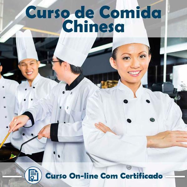 Curso online em videoaula sobre comida chinesa com
