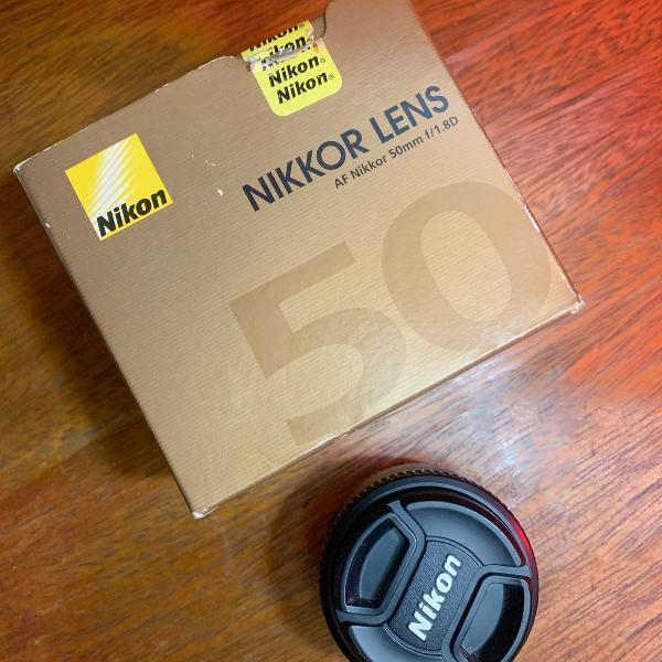 Lente nikon 50mm f/1.8d