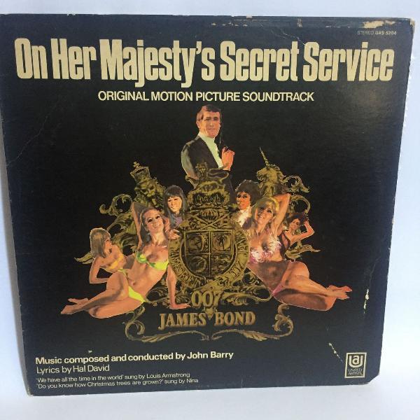 Lp original trilha sonora '007 james bond- on her majesty