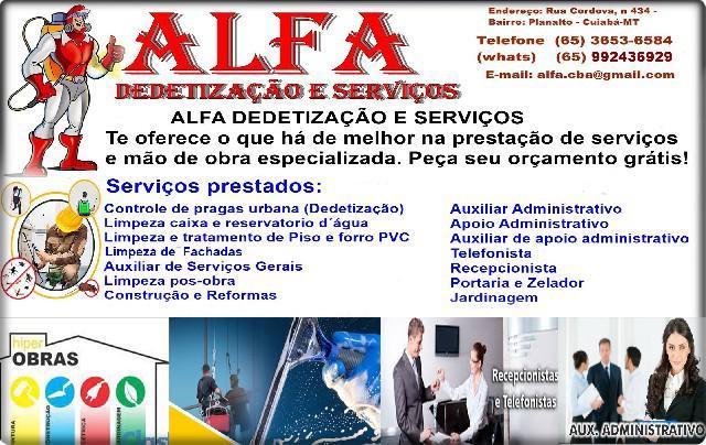 Alfa dedetização e serviços