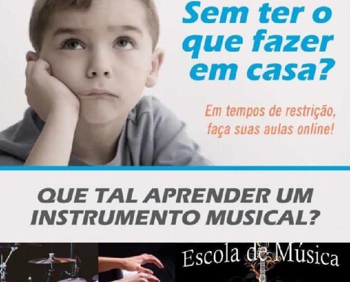 Aulas de música online - ao vivo