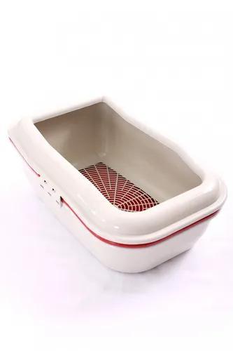 Bandeja gato higiênica sanitário banheiro peneira vermelha