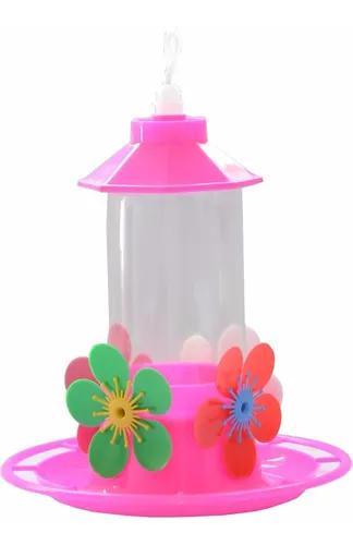 Bebedouro beija flor c/ bandeja chapéu e poleiro 10