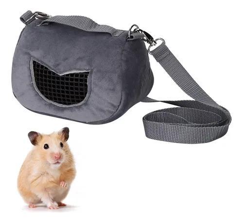 Cinza flannelette portátil respirável pet hamster