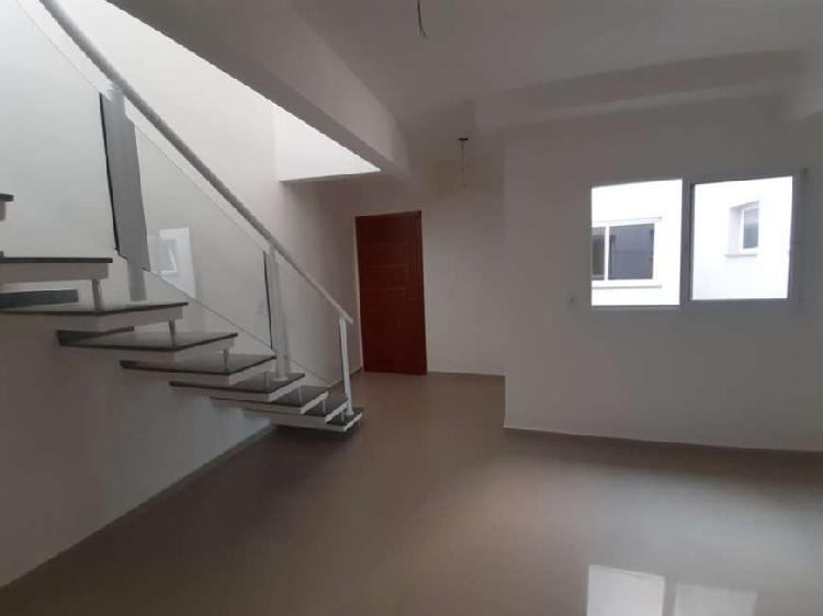 Cobertura (46 m² + 46 m²) 2 quartos em vila linda - santo