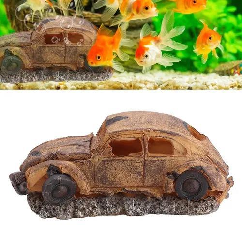 Decoração resina aquário imitação carro bolha ar pedra
