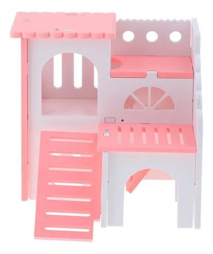 Hamster casa gaiolas de madeira pequenos animais villa hut j
