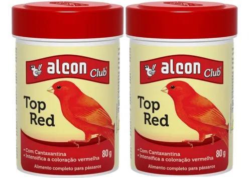 Kit c/ 2 alcon club top red. seu canario cenoura ou vermelho