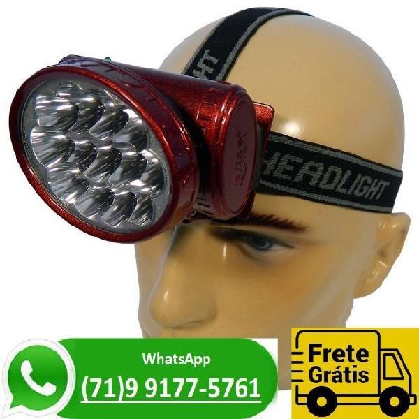 Lanterna de cabeça led cree q5 recarregável (novo)