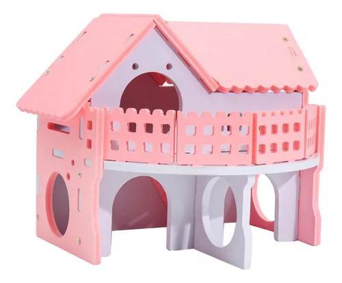 Pequeno animal hideout hamster casa cabine gaiolas villa mad