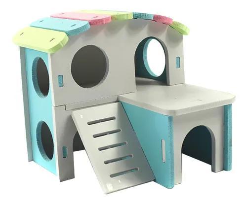 Pequeno animal pet house jaula ninho hamster hedgehog castel