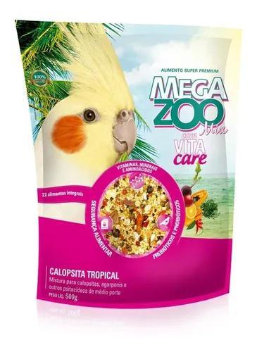 Ração para calopsita mix tropical megazoo 500g