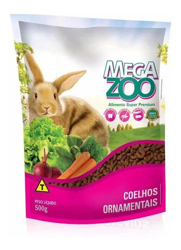 Ração para coelhos ornamentais adultos megazoo 500g