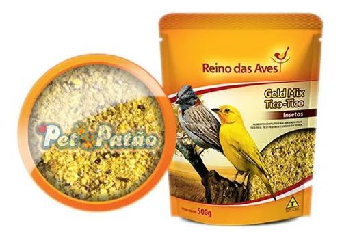 Reino das aves tico tico gold 500g - un