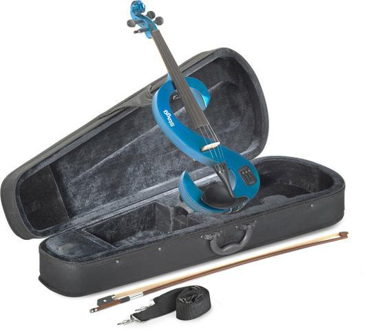 Violino stagg 4/4 elétrico com estojo/bag modelo evn 4/4