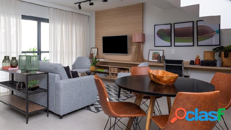 Duplex de 108m² 2 suites e 2 vagas em itaim bibi-sp